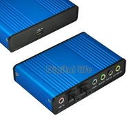 4PCS/LOT Promotions!! new 2013 High Quality USB 6 Channel 5.1 Optical Audio Sound Card S/PDIF 177