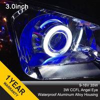 3.0HQL hid projector lens H1 H7 H4 H13 HB3 HB4 9004 9007 35w 3'' bixenon lens double angel eyes+2pcs AC Ballasts for headlight