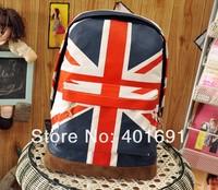 Free Shipping Hot Canvas UK England Flag Punk Running BackPack Shoulder GYM Bag Hand Duffle School