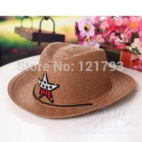Free shipping Child hat boy&girl hat child cowboy hat sun hat boy baby sunbonnet parent-child strawhat