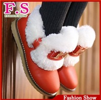 Fashion 2013 Women's Ankle Boots Thick Warm Fur Lining Winter Boots For Women Casual Dress Cold Winter Outdoor Shoes WB697