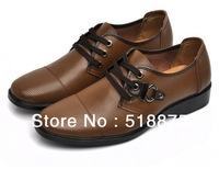 Free shipping leisure man leather shoes breathable leather men business leather shoes men's  Oxfords shoes