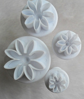 4pcs Cookie Fondant Cake Sugarcraft Chocolate Decorating Plunger Mold Cutter