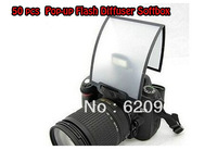 100% Professional 50 PCS  free shipping Universal Soft Screen Pop-Up Flash Diffuser For Nikon Canon Pentax Olympus