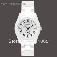 2013 new fashion designer vintage watch women  white ceramic watches with original box Model AR1405