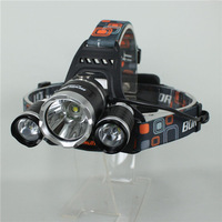 Free Shipping 3x CREE XM-L XML T6 LED 5000 Lumens Rechargeable Headlamp Headlight Light Head lamp Charger