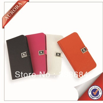 hot selling pu leather case For samsung s4 19500 gt19508 flip genuine leather protective freeshipping