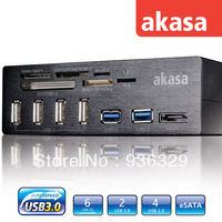 akasa built-in card reader  5.25 six USB port Easy access connections six slot internal memory card reader
