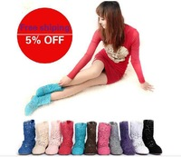 Single flat heel short boots cotton multicolour cutout short boots knitted net cool boots small single boots