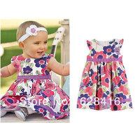 2013 children's clothing fashion ja print 100% cotton small kid's  one-piece dress