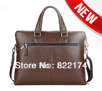 2014 new famous designer men's genuine Cowhide leather Briefcases Bags&cross body Business computer bag 64