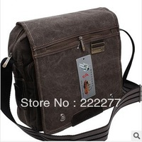 2013 Hot Selling New black khaki color Men's Casual / Sports Canvas Messenger bag man handbag One shoulder bags Designer for man