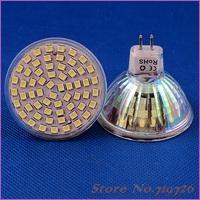 10 PCS/Lot Free Shipping MR16 3528 SMD 60 LED 4W White High Power Spot Light Lamp Bulb AC 220-240V LED0242