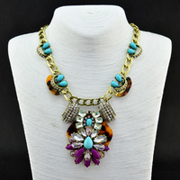 2013 Brand New arrive JC Jewelry High Quality Crystal Gem  Vintage  Necklaces, Min order 10$ Free Shipping (can mix order)