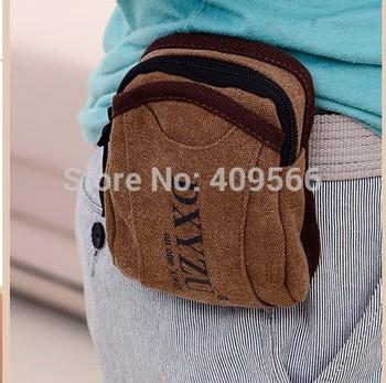 2014 Fashion Man Waist Pack Man Purse Pocket Small Sports Bag Canvas Bag Arm Mobile Phone Bag Designer Bag FREE SHIPPING