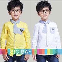 Free Shipping 2014 New Boys Fashion Shirts School Uniform Kids Tops K3006