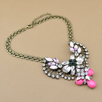 2013 Newest JC Jewelry High Quality Crystal Gem Filled Victorian Long Necklace, Min order 10$ Free Shipping (can mix order)