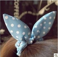 Min.order is $9(mix order) Korean fashion bowknot rabbit ears multicolor Changed hair ring Freeshipping/Wholesale HL23906