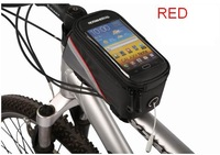 Dropship Newest 5.5 inch 1.5 L Touch Screen Mobile Phone Bag Waterproof Cycling Bike Bicycle Frame Front Tube Bag For Cell Phone