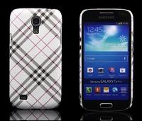 Freeshipping Colorful Plaid Hard Back Case For Samsung Galaxy S4 Mini i9190 i9195 i9192 High Quality Case for S4 mini