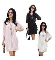 2014 Women Plus size Spring Summer Chiffon Slim Half Sleeve O-neck Casual Fashion Maxi Dress M-5XL Vestidos