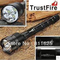 TrustFire 3T6 LED Flashlight Torch 3800 Lumens 5 Mode CREE XM-L T6 White Light led Flash light lamp Free Shipping