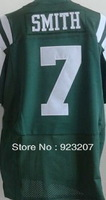2013 Mens Cheap New York QB #7 Geno Smith #6 Mark Sanchez #10 Holmes Green/White Elite American Rugby Football Sports Jersey