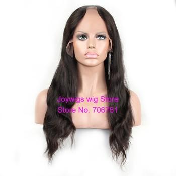 "Free shipping 18"" natural color Brazilian virgin u part wig human hair for black women in stock"