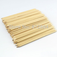 2013 supernova Sale 100pcs/lot 15cm Wood Sticks Tool for Nail Art Cuticle Pusher Remover Clean Wipes Cotton Lint Pads Paper T421