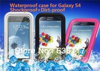 Waterproof water dirt proof shockproof active holder hard case for samsung galaxy s4 i9500 waterproof bag Wholesale