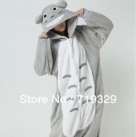Hot Selling! Free Shipping Animal Pattern Fleece Cartoon Totoro Pajamas for Autumn and Winter Lovers Design Home Wear Sleepwear