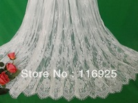 3 meters Free Shipping Gorgeous Handmade Wedding Dress French Chantilly Eyelash Lace Fabric