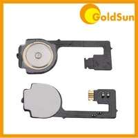 100pcs/Lot Home Menu Button Flex  Cable Ribbon for iPhone 4 Repair Parts Free Shipping