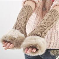 women's imitation winter arm gloves knitted gloves cute Half Finger arm set for women wholesale,ST007
