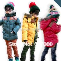 Children's clothing wadded jacket 2013 winter child winter female male child wadded jacket child fur collar thickening