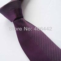 Yibei Coachella Ties Purple Half With Gray's Sopts Stripe Jacquard Necktie Gravata Formal Neck tie For Men dress Party Wedding