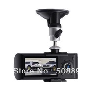 New 1pcs/lot Dual Lens Car DVR GPS G-sensor 2.7 inch LCD screen Car Recorder Wholesale&Dropshipping