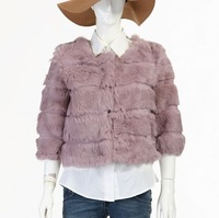 Free shipping 2013 New Vogue Rabbit fur wholeskin Coat Natural Fur Garment women short style High Quality IN STOCK