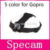 50pcs Elastic Headband Outdoor Camera Head Strap Mount For GoPro HD Hero, Hero2, Hero3,Size Adjustable, Anti-Skid, Free Shipping