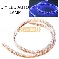 Free shipping.High Quaity Blue Light 72CM DIY LED Flexible Auto Lamp---IM6851R32
