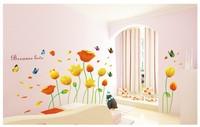romantic flower decoration bedroom sofa large wall sticker bathroom window glass music vinyl removable wall art home decor decal