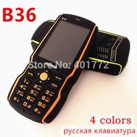 4500mAh Big Battery Power Bank Phone Original B36 2.4'' Dual Sim Card Long Standby Bluetooth Russian Language Keyboard