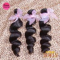 Queen Hair Indian Loose Wave Virgin Hair 4pcs/lot Free Shipping By DHL,Grade 5A,1B Natural Color 100% Human Hair