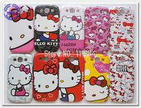 Retro Designs Cover for Samsung Galaxy S3 i9300 Case Hello Kitty Designs 50pcs by HK Post