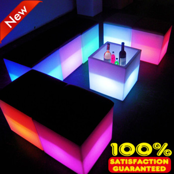 40cm night club outdoor party LED cube/LED chair/LED bar table,hot sale led furniture!