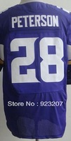 2013 New Men Cheap Minnesota RB #28 Andrian Peterson Purple/White/Split American Rugby Football Elite Sport Jersey.Stitched Name