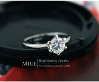 Miue brand 18K Gold Plated fashion rhinestone leaf rings for women gold jewelry wholesale ring 2013 jewellery