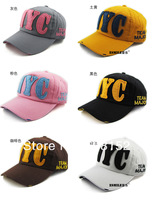 Hat overflow NYC letters han edition affixed cloth more outdoor lovers cap baseball hats for men and women  5pcs