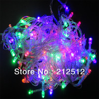 EMS Free Shipping 20pcs/lot Holiday / Chrismas Decoration 110v / 220v 10M 100 LEDs Led String Lights With American and EUR Plug