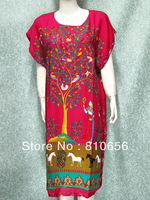 2013 Hot Sales Fast Free Shipping Woman Plus Size Long Cotton Kaftan Dress ,Tops ,Caftans